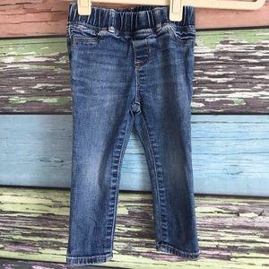 Gap jean leggings, 2 years